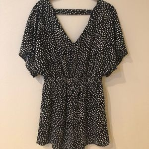 CALS Adorable Black and White Romper